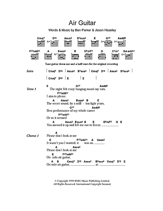 Air Guitar (Guitar Chords/Lyrics)