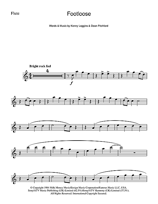 Footloose Sheet Music