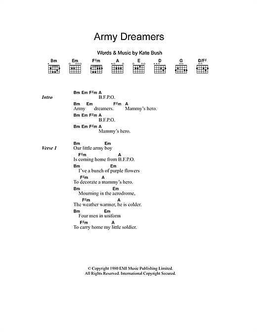 Army Dreamers Sheet Music