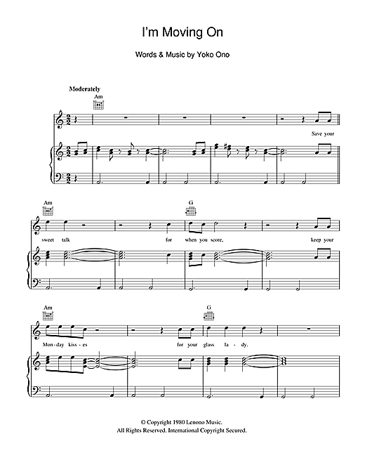 I'm Moving On Sheet Music