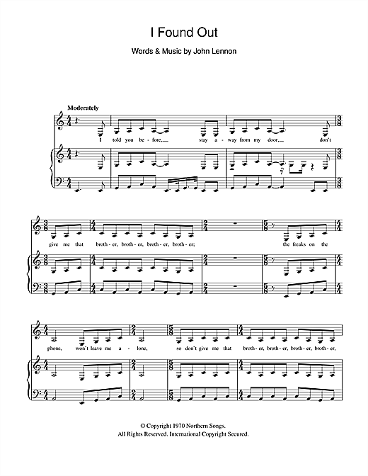 I Found Out Sheet Music
