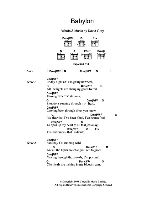 Babylon Sheet Music