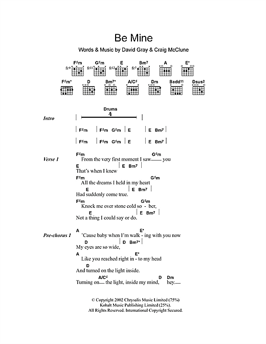 Be Mine Sheet Music