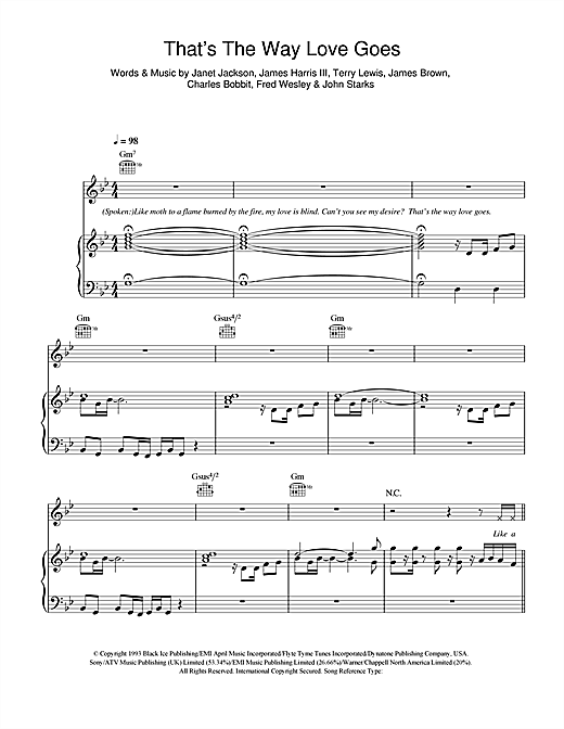 That's The Way Love Goes Sheet Music