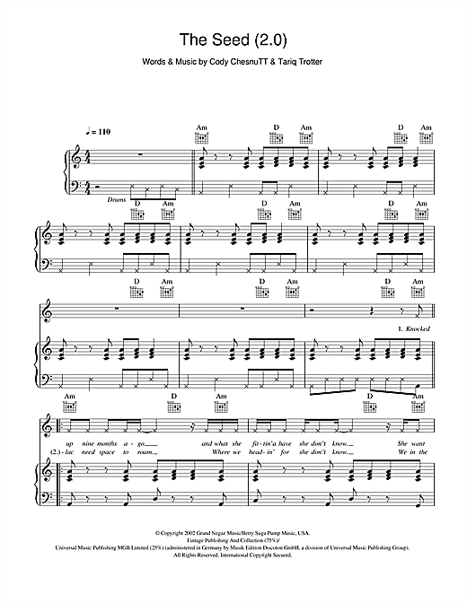 The Seed (2.0) Sheet Music