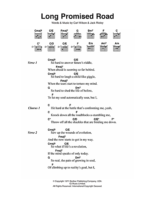 Long Promised Road Sheet Music