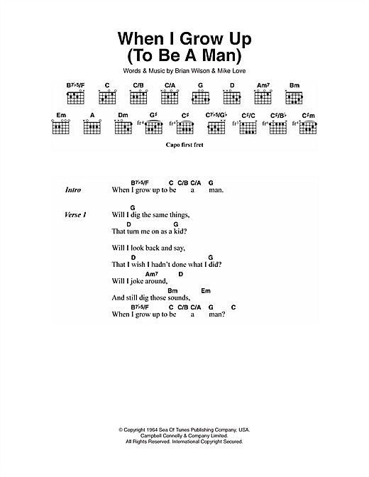 When I Grow Up (To Be A Man) Sheet Music