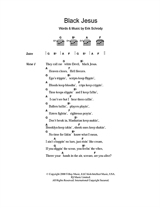 Black Jesus Sheet Music