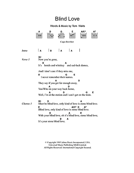 Blind Love Sheet Music