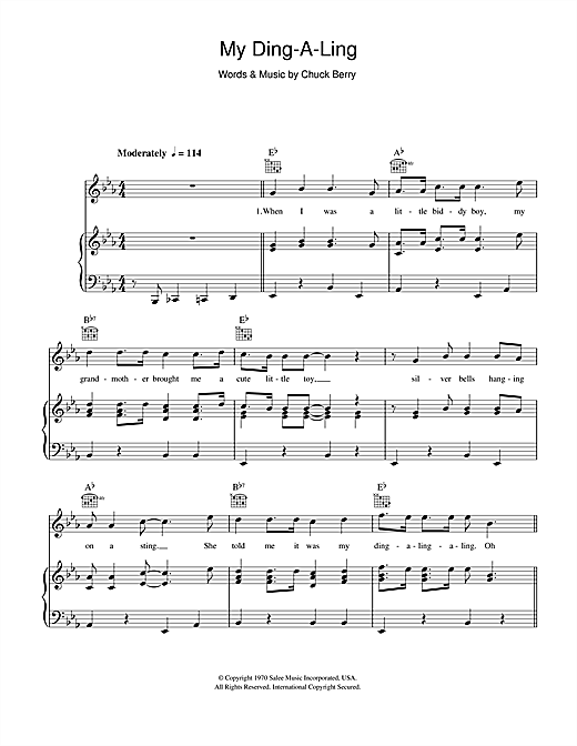 My Ding-A-Ling Sheet Music