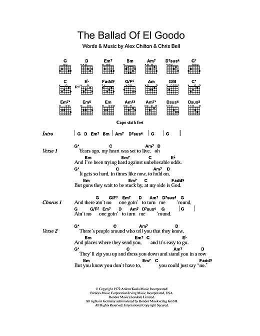 The Ballad Of El Goodo Sheet Music