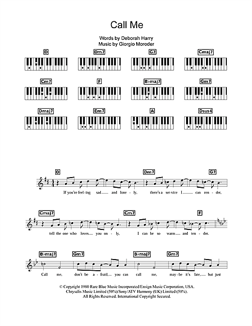 Call Me Sheet Music