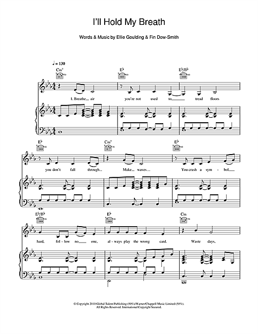 I'll Hold My Breath Sheet Music