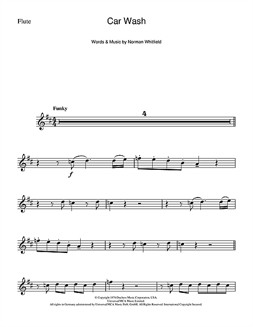 Car Wash Sheet Music