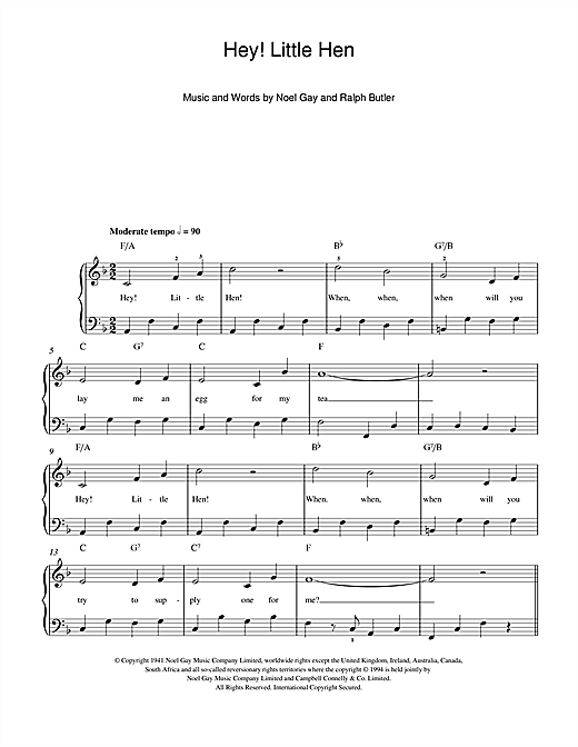 Hey, Little Hen Sheet Music