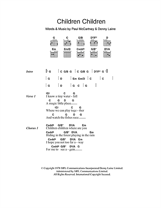Children Children Sheet Music