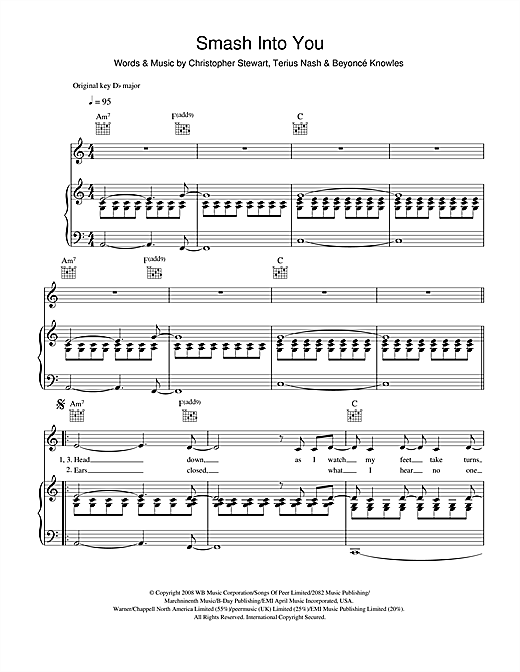 Smash Into You Sheet Music