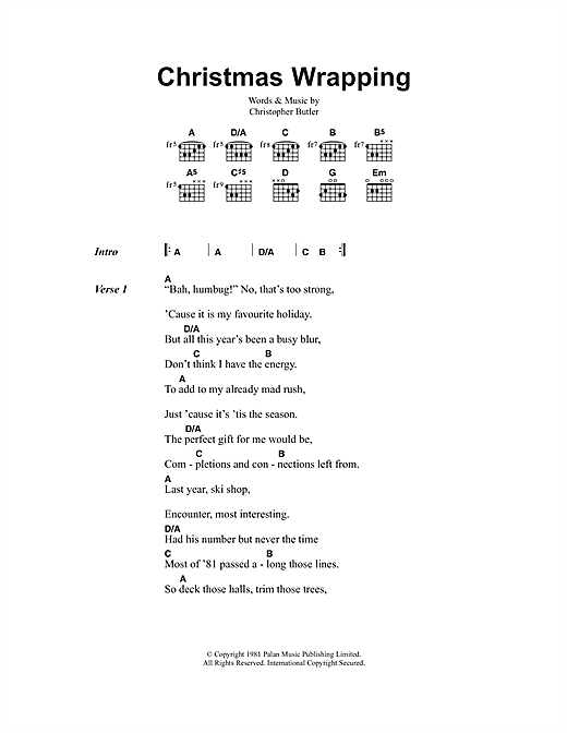 Christmas Wrapping Sheet Music