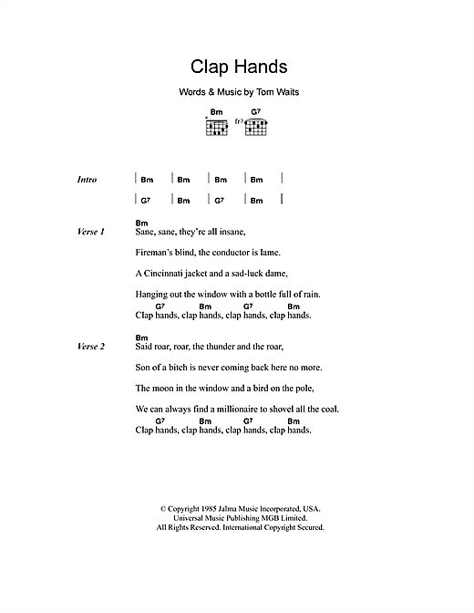 Clap Hands Sheet Music