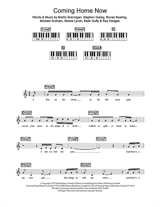 Coming Home Now Sheet Music