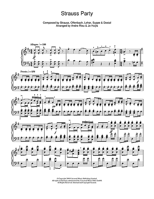 Strauss Party Sheet Music