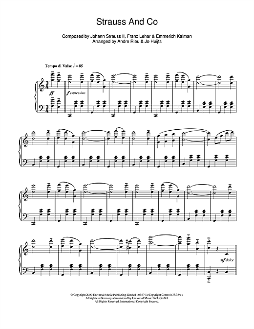 Strauss & Co Sheet Music