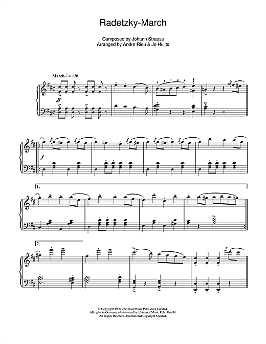 Radetsky Sheet Music