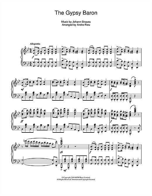 The Gypsy Baron Sheet Music
