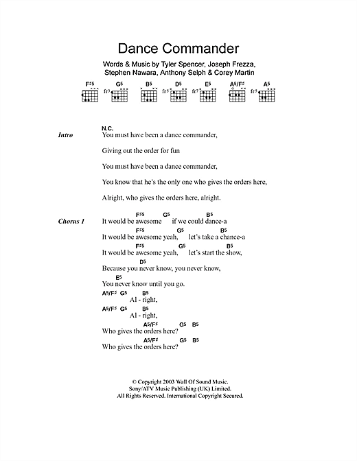 Dance Commander Sheet Music