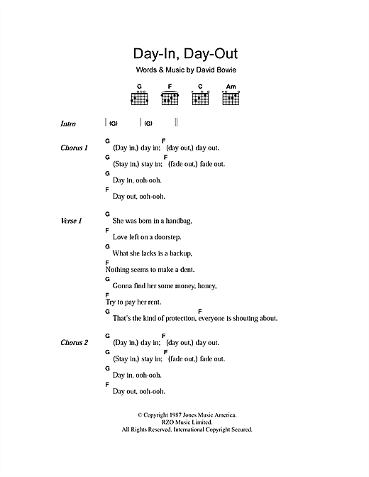 Day-In Day-Out Sheet Music