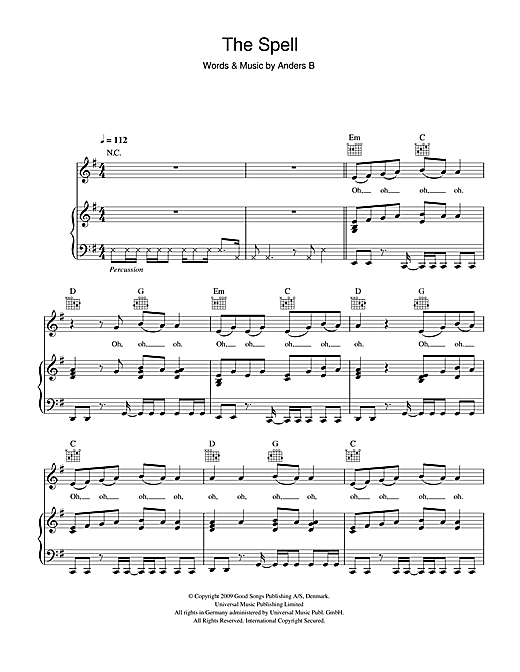 The Spell Sheet Music