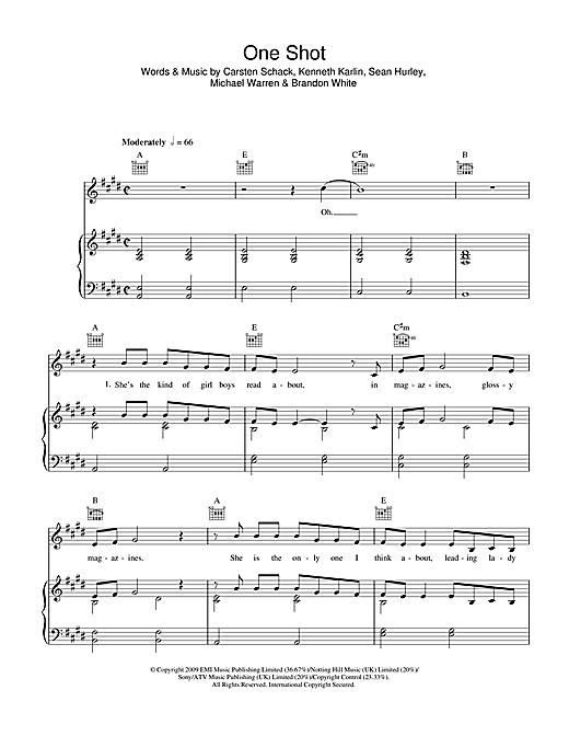 One Shot Sheet Music