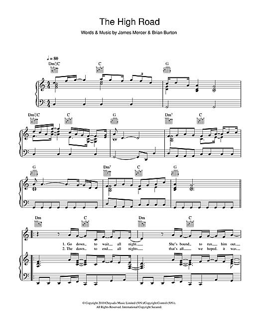 The High Road Sheet Music