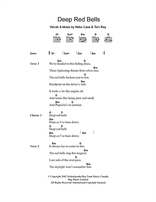 Deep Red Bells Sheet Music