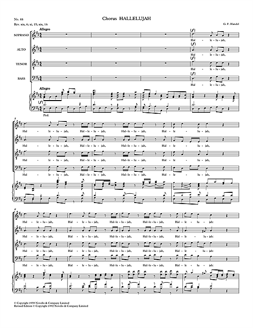 Hallelujah (from Messiah - Watkins Shaw Edition) Sheet Music