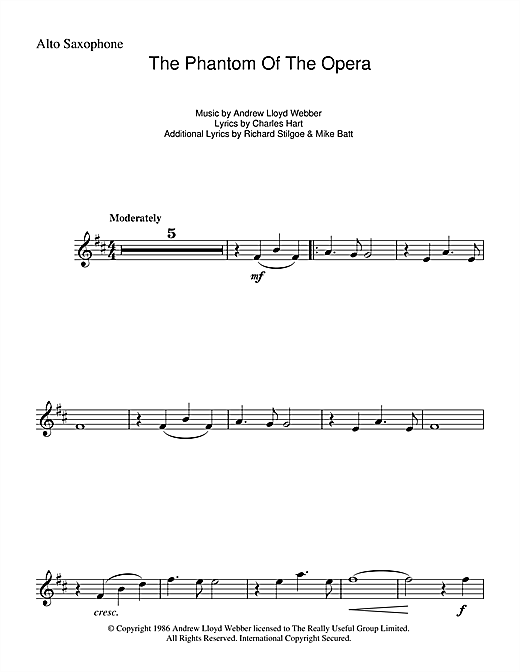 The Phantom Of The Opera Sheet Music