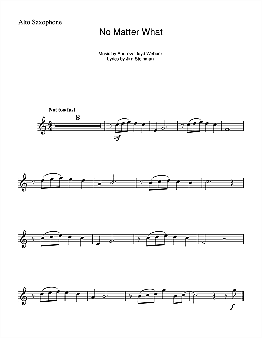 No Matter What (from Whistle Down The Wind) Sheet Music