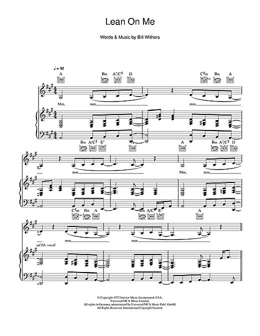 Piano lean on piano chords major lazer : Lean On Me Sheet Music Easy Free - 1000 images about fun sheet ...