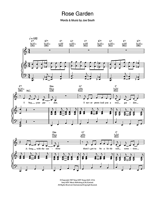 Rose Garden Sheet Music