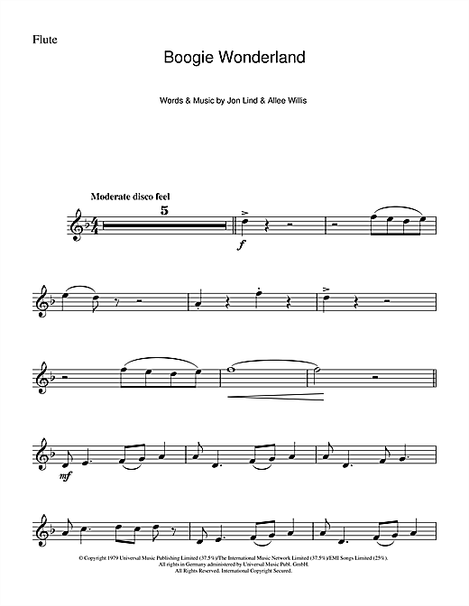 Boogie Wonderland Sheet Music