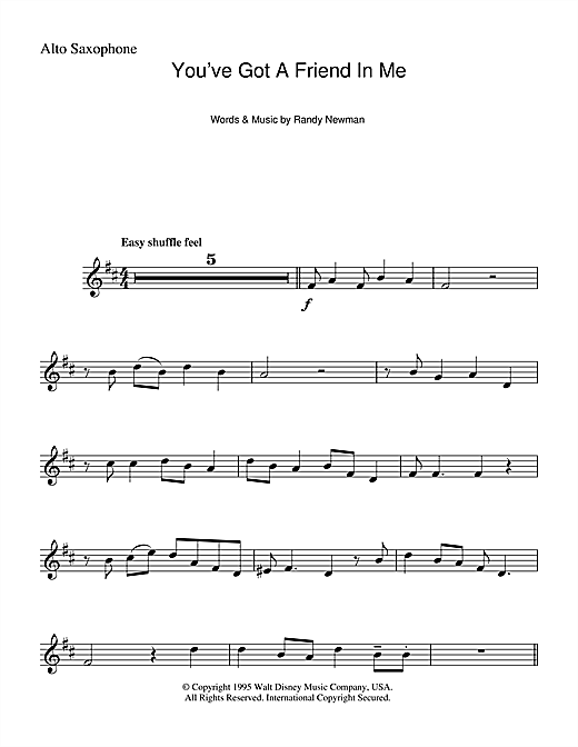 You've Got A Friend In Me (from Disney's Toy Story) Sheet Music