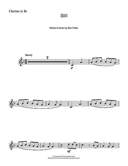 Still (from Over The Hedge) Sheet Music