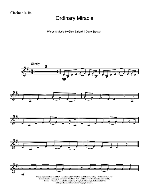 Ordinary Miracle (from Charlotte's Web) Sheet Music
