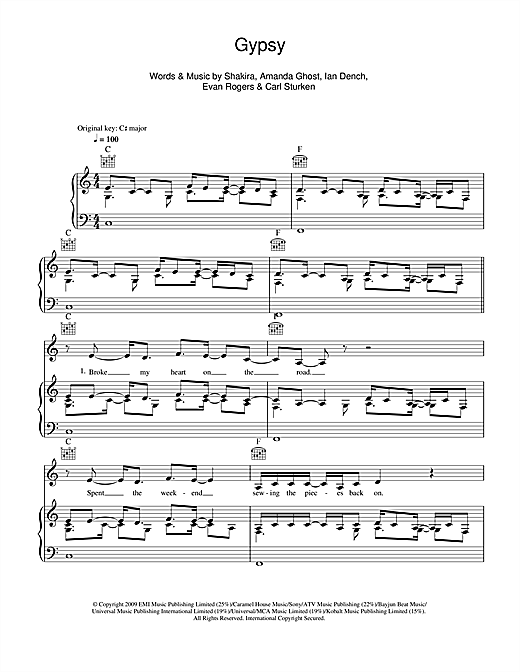 Gypsy Sheet Music