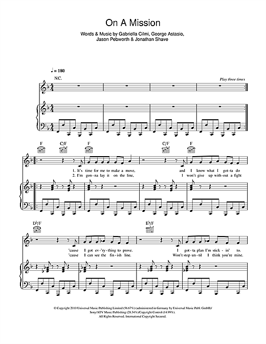 On A Mission Sheet Music