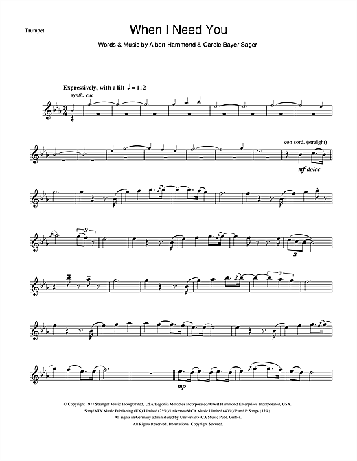When I Need You Sheet Music