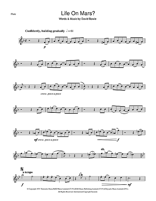 Life On Mars? Sheet Music