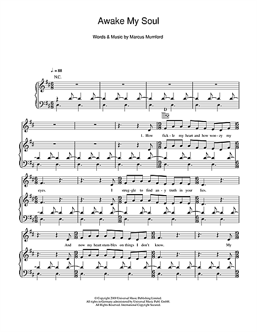 Awake My Soul Sheet Music