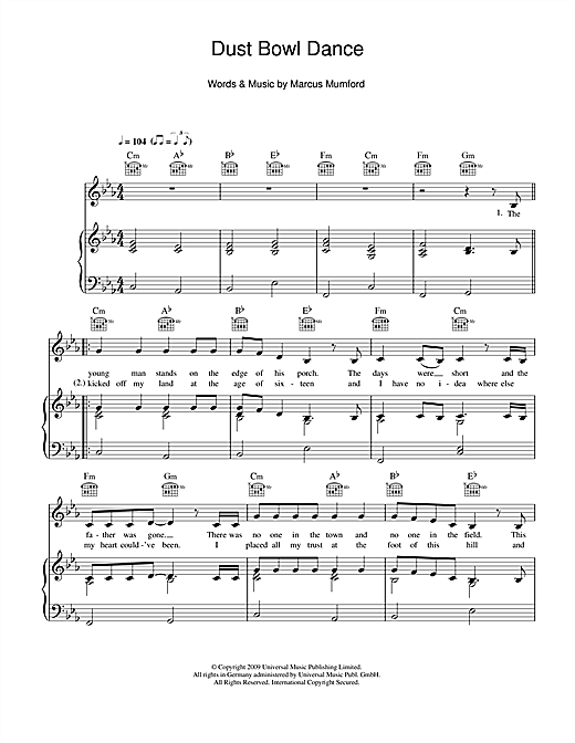 Dust Bowl Dance Sheet Music