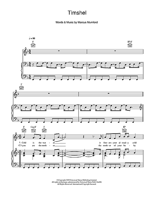 Timshel Sheet Music